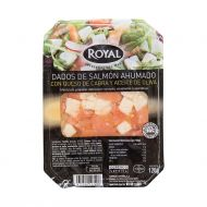 DADOS DE SALMON CON QUESO ROYAL 120 GR