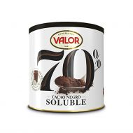 CHOCOLATE SOLUBLE 70% CACAO SIN GLUTEN VALOR 300 GR